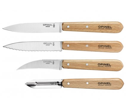 Set nožů 4 ks Les Essentiels Natural, Opinel