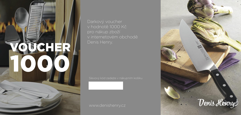 Denis Henry Dárkový voucher na nákup v hodnotě 1000 Kč