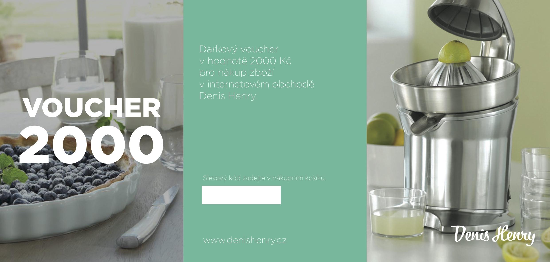 Denis Henry Dárkový voucher na nákup v hodnotě 2000 Kč