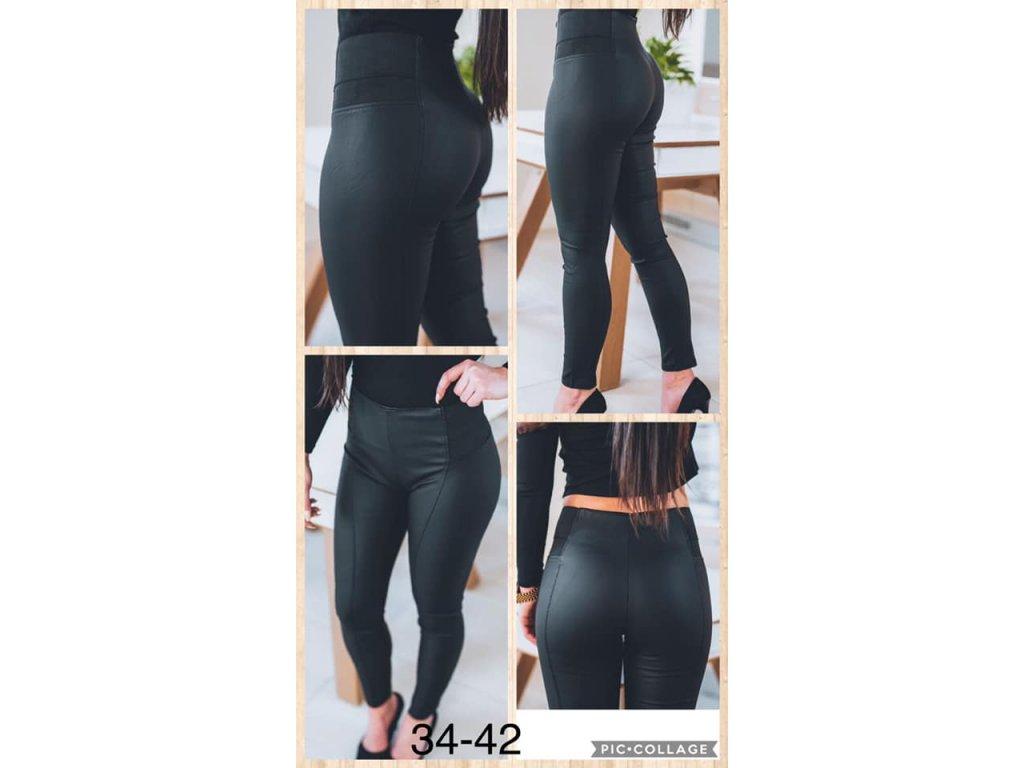 Dámské koženkove kalhoty  F690