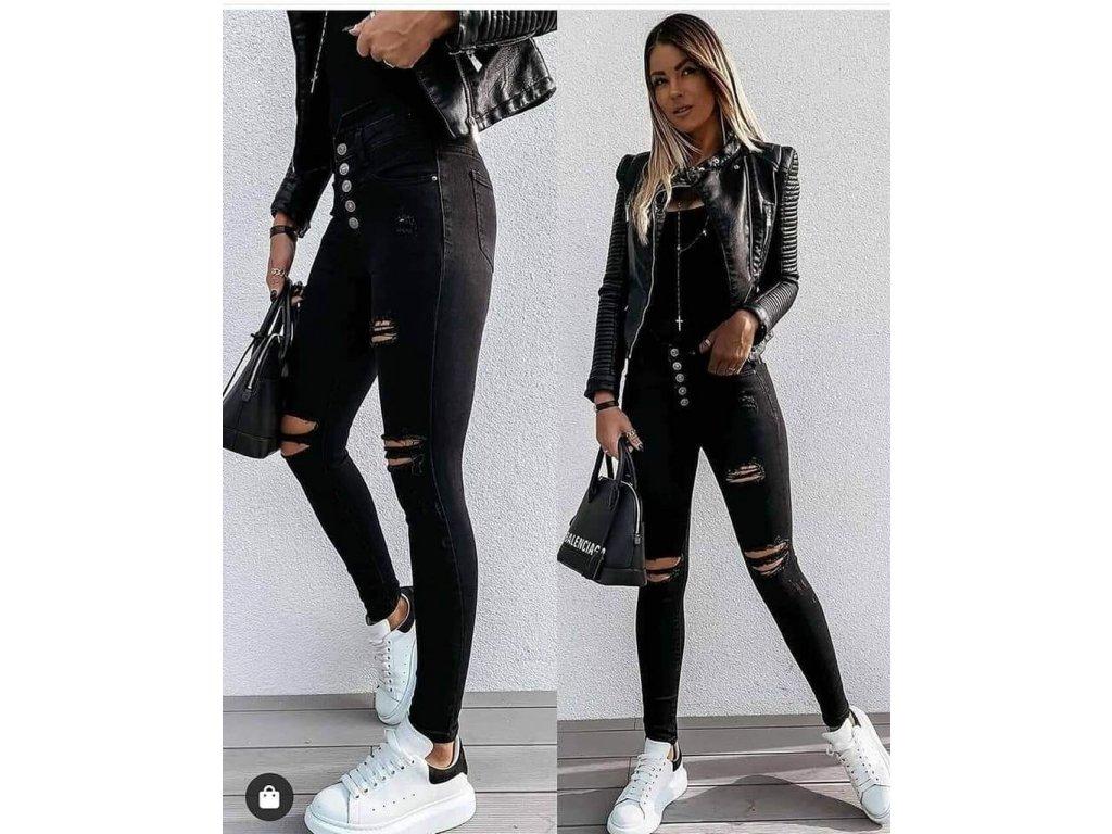 Dámské černé džíny 2608
