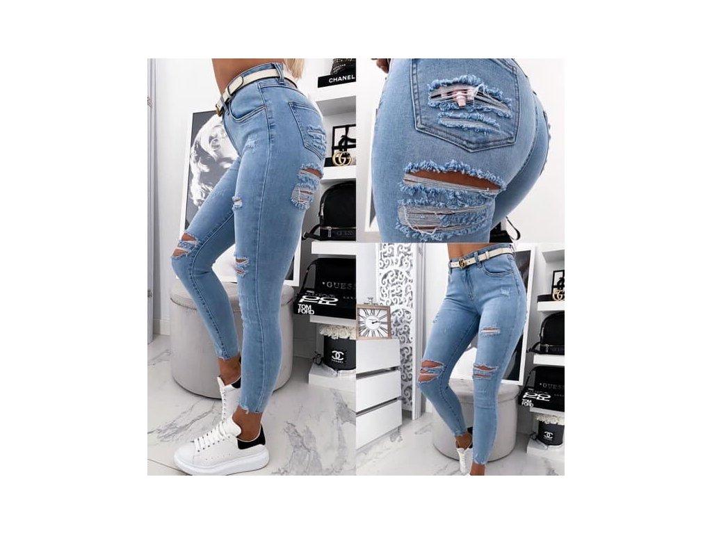 Dámské džíny 2596 modré