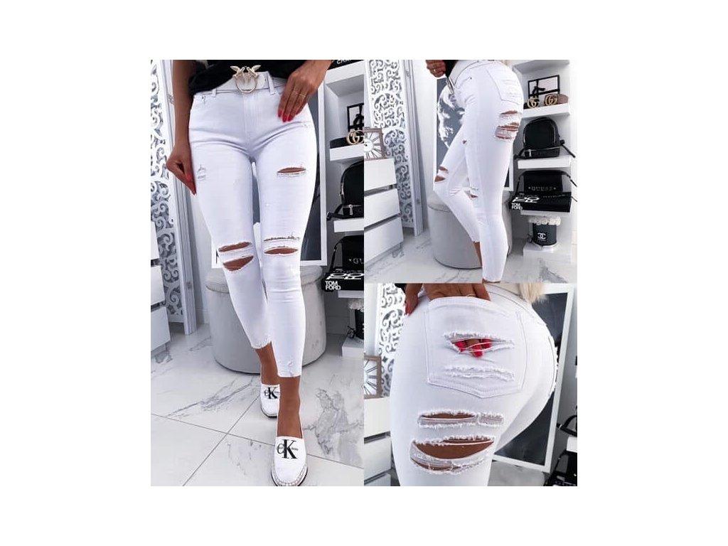 Dámské džíny 2596 bílé