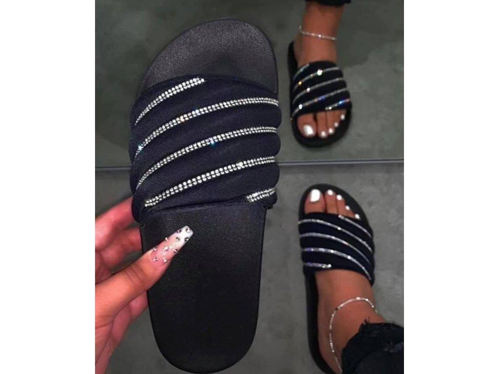 Dámské pantofle LAPERLA černé