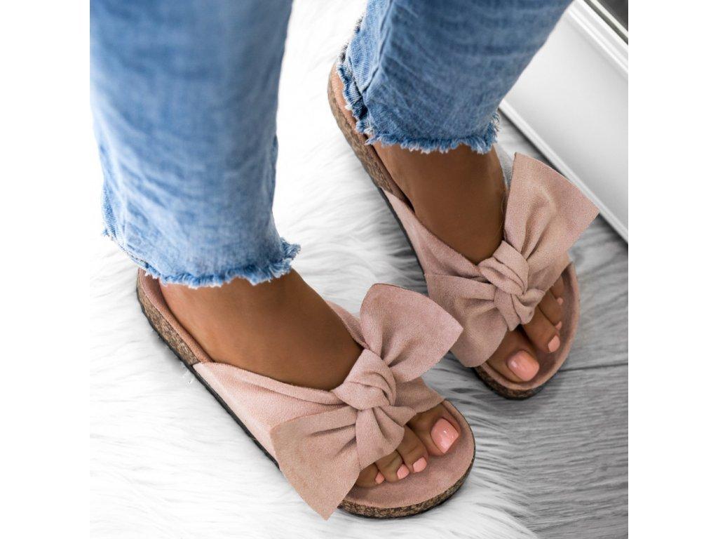 Dámské pantofle LADY  pudrové