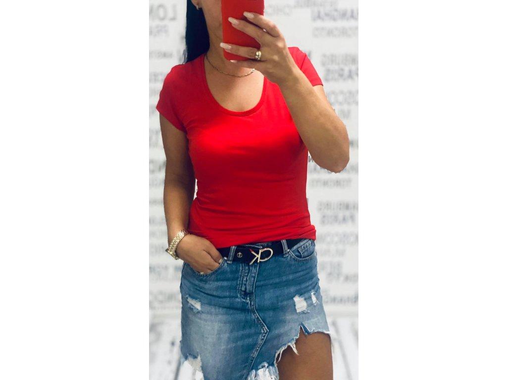 Dámské tričko BASSIC červené