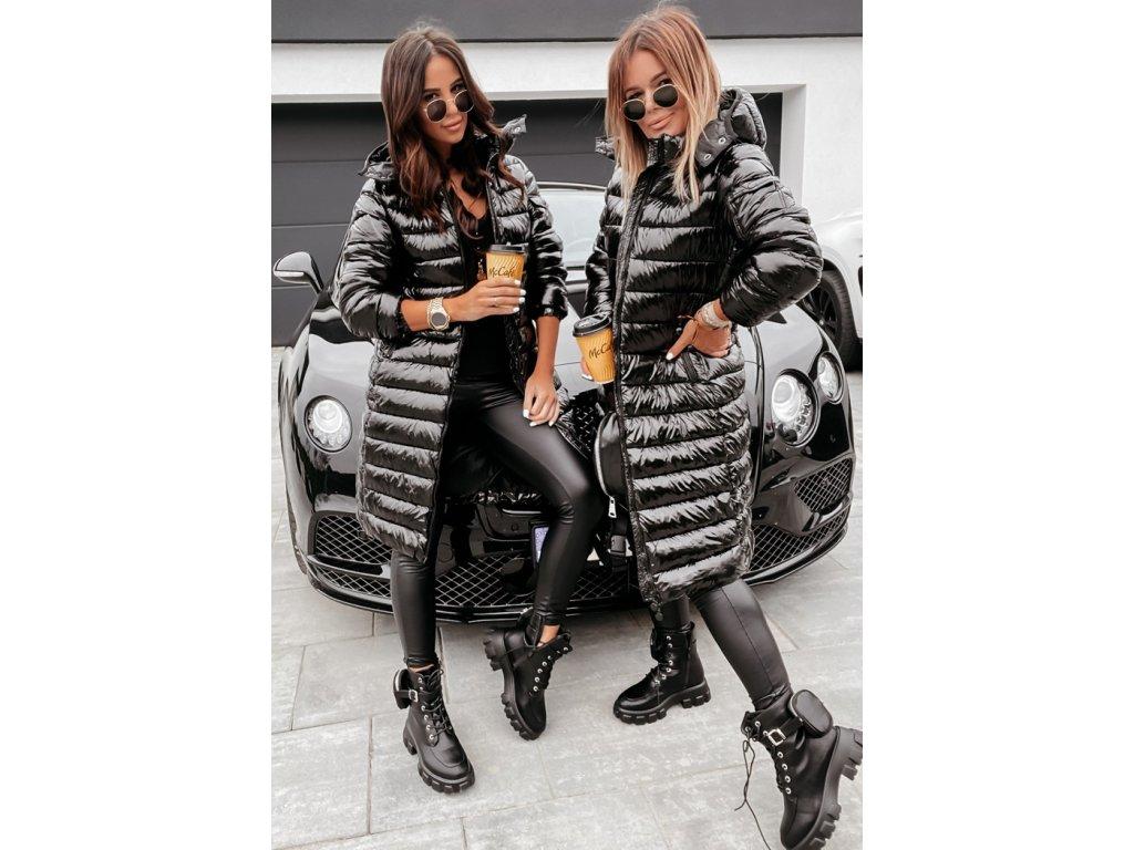 Dámský kabát černý LEONA