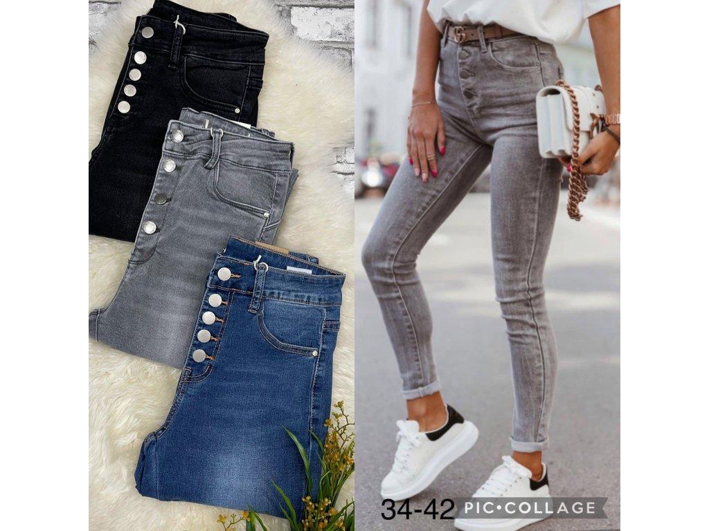 Dámské džíny  šedé  S5705G-B