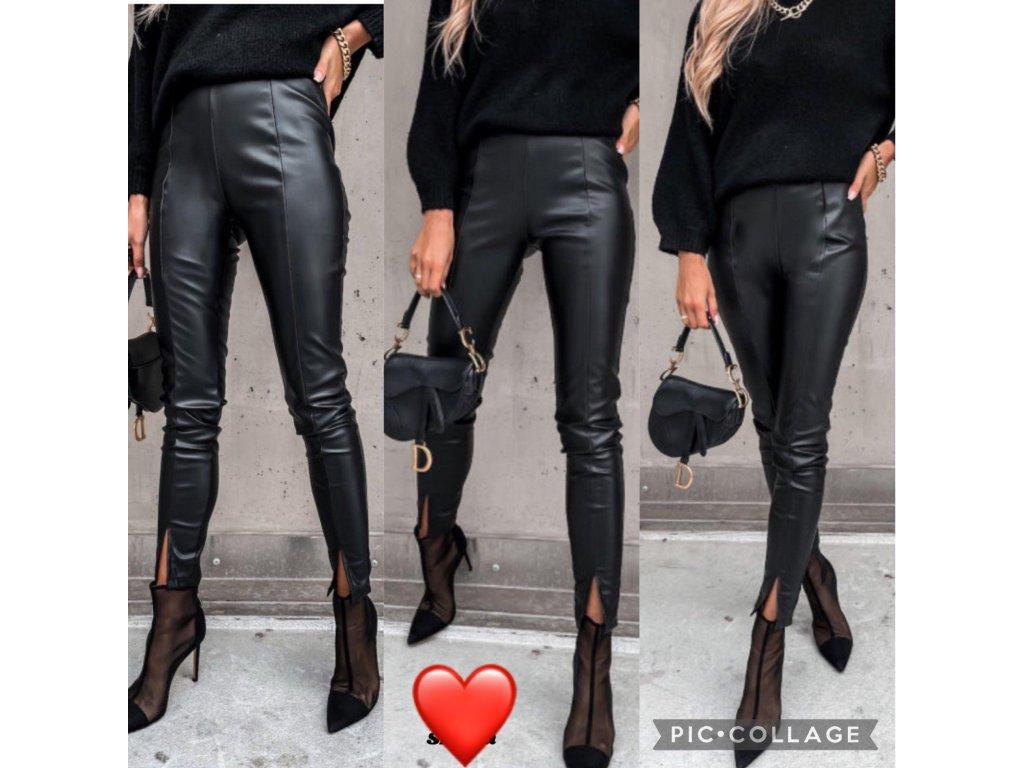 Dámské koženkové kalhoty 688