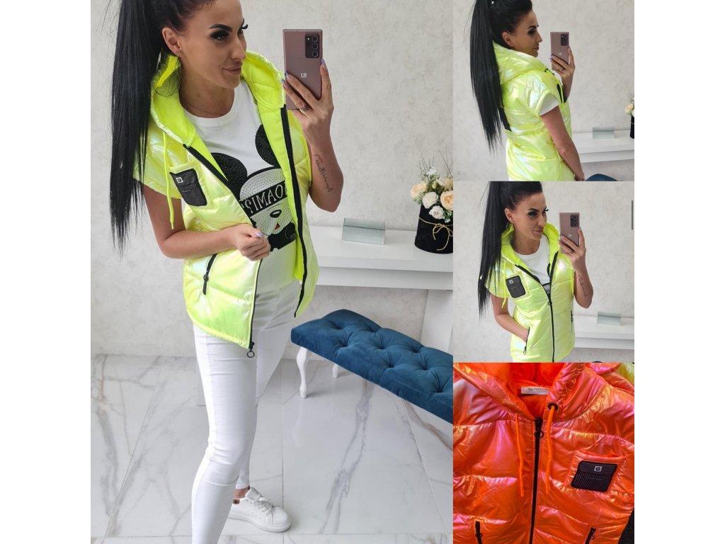Dámská vesta neonová oranžová