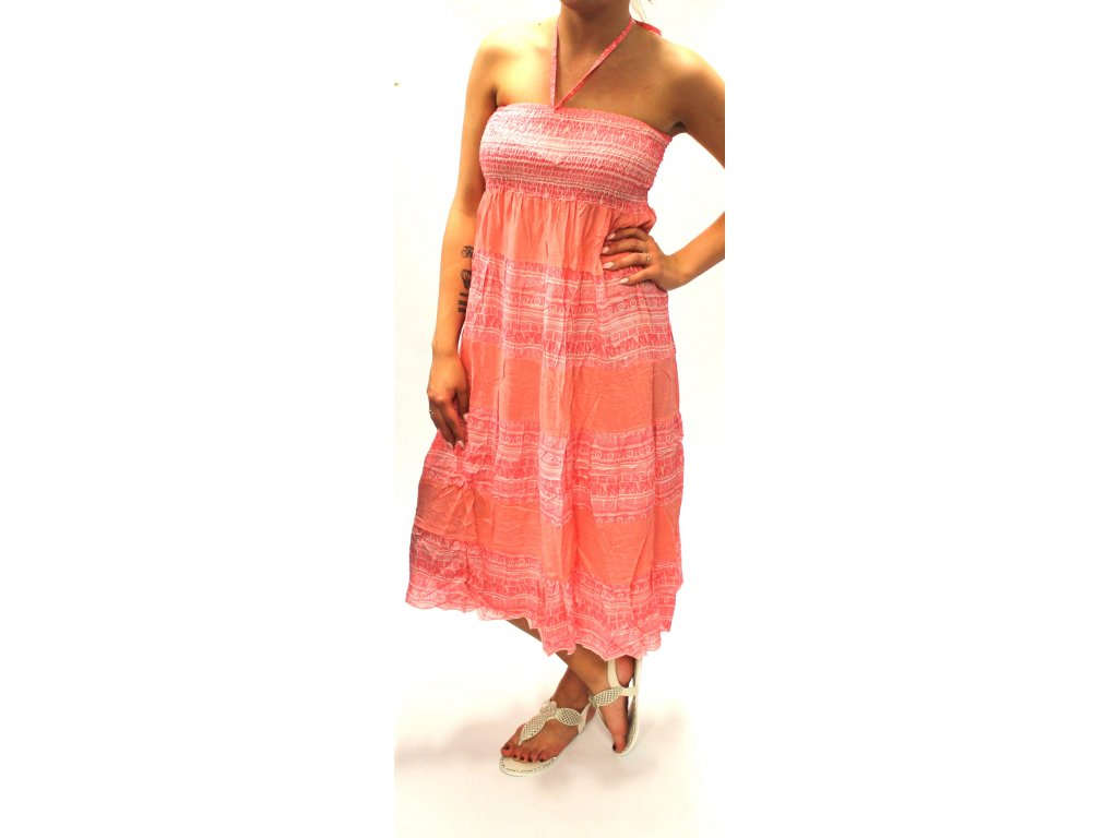 Dámské dlouhé šaty MIA růžové