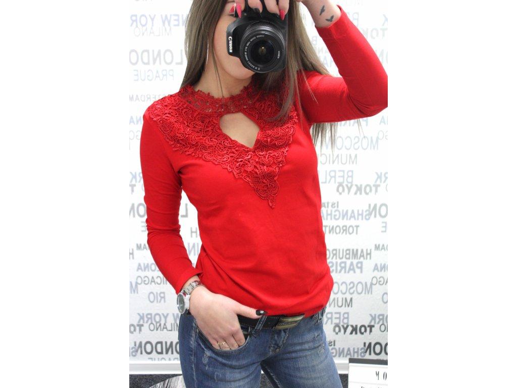 Dámské tričko MILA 2 2059- červené