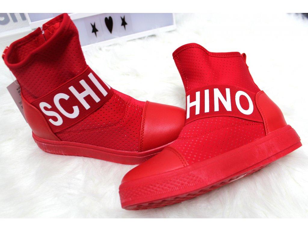 Dámská kotniková obuv SCHINO červená
