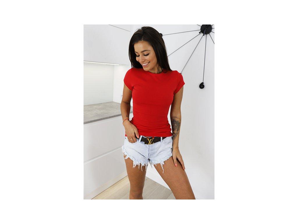pol pm T SHIRT BAWELNIANA BLUZKA BASIC czerwona X23 4560 1