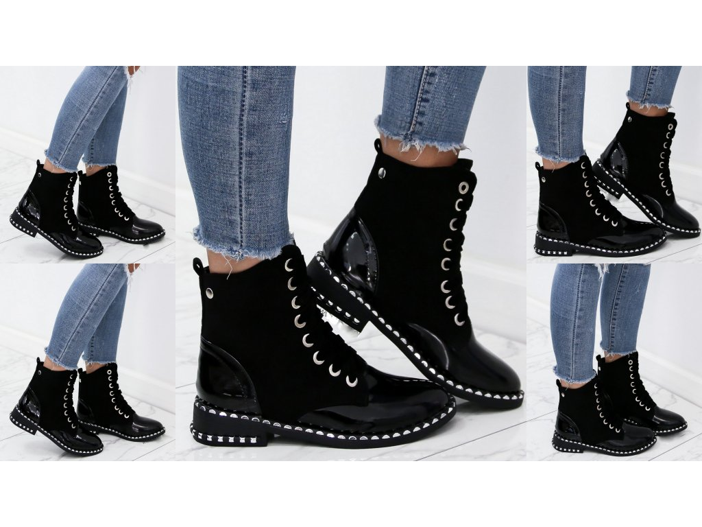 Dámská kotniková obuv černá MISSE