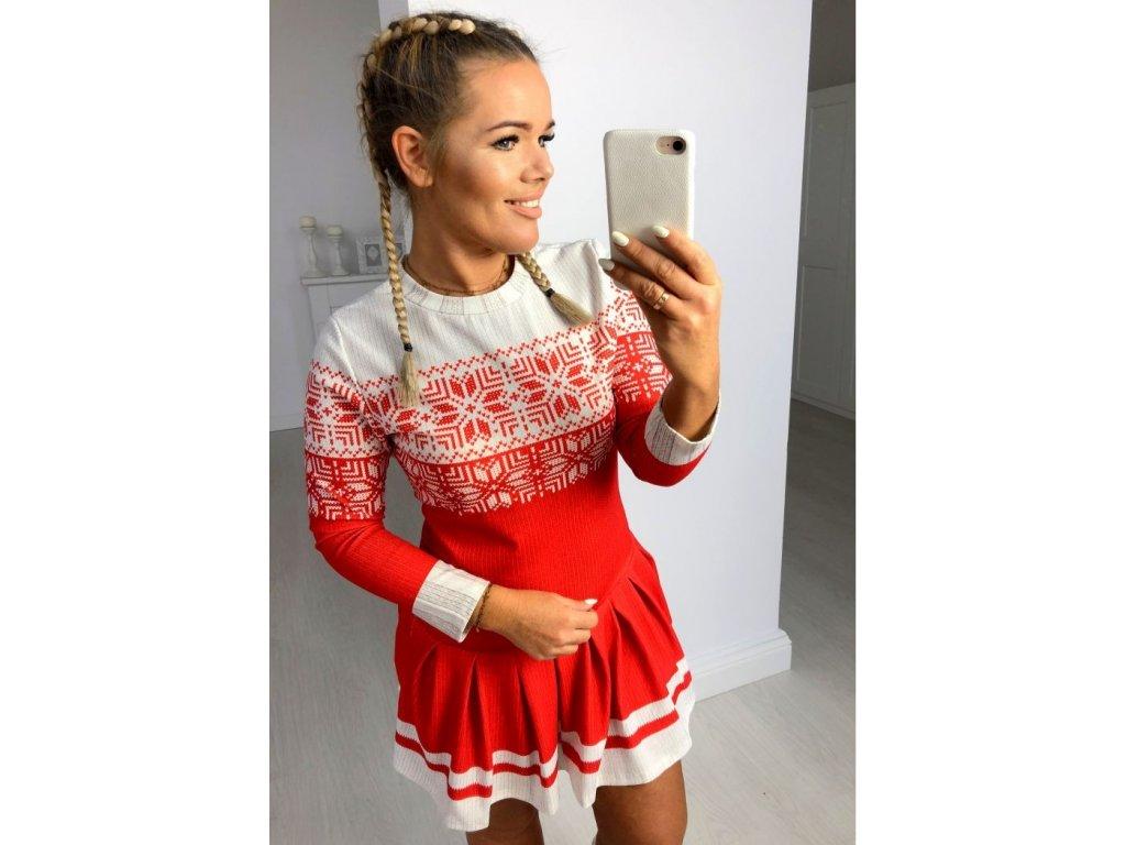 sukienka christmas red