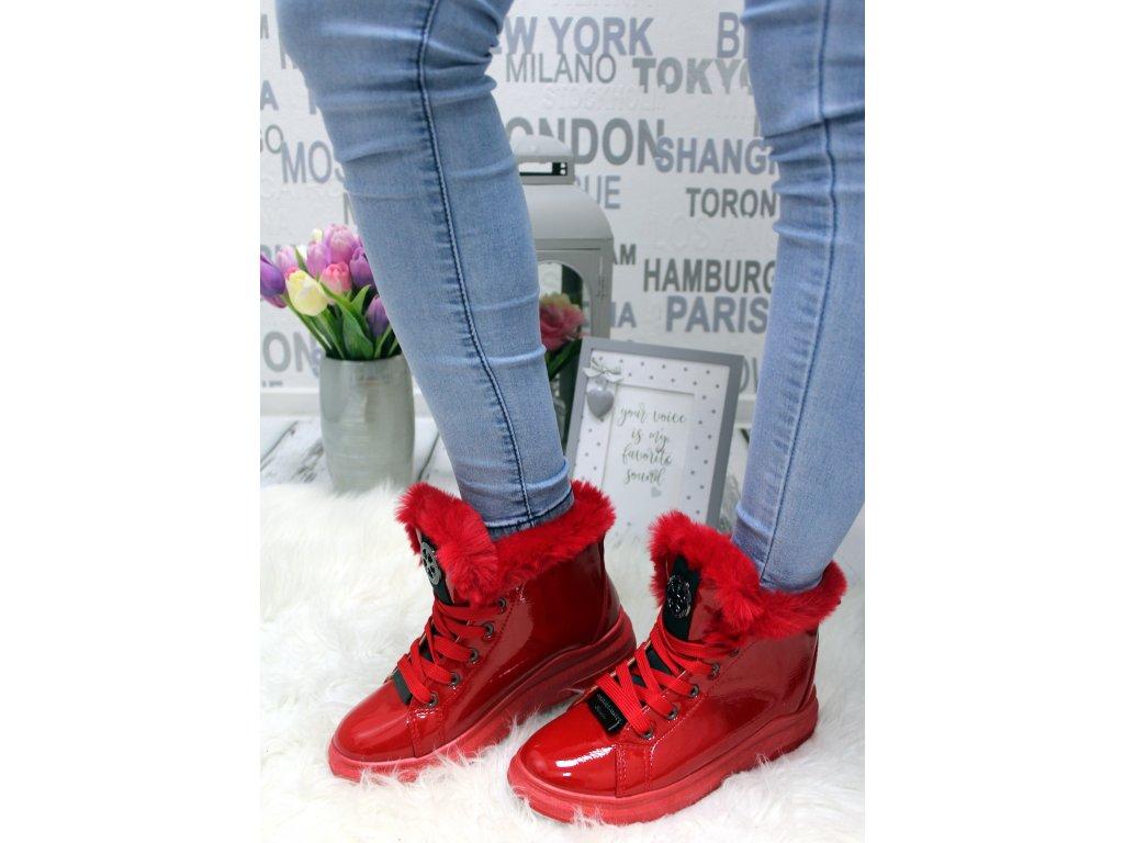 Dámská kotniková obuv červená CBRBLOE