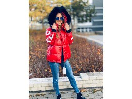 Dámská zimní bunda MAOMA červená