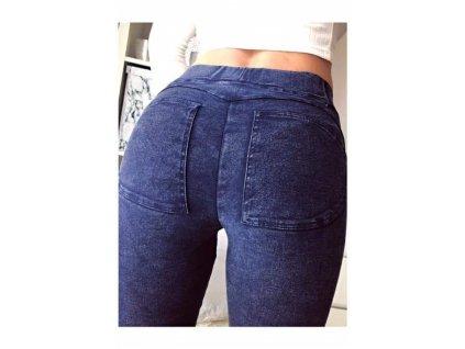 Dámské PUSH-UP kalhoty modré