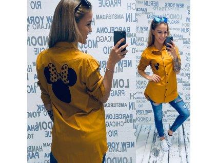 Dámská košile MICKEY HOŘČICOVÁ  46456