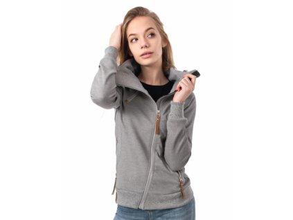 Dámská prodloužená mikina šedá