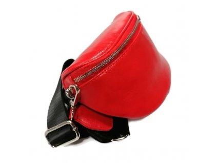 torebka nerka saszetka skora ekologiczna czerwona