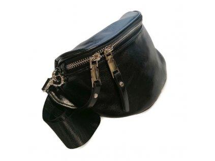 torebka nerka saszetka skora ekologiczna czarna