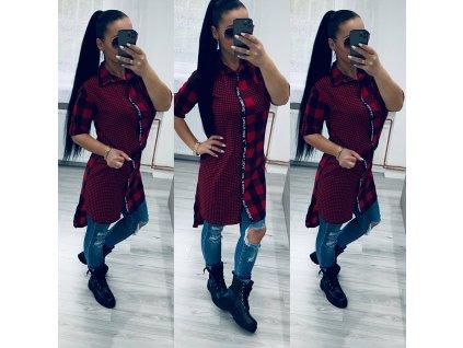 Dámské šaty LONG červené