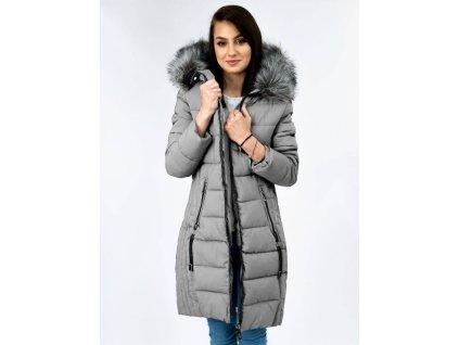 Dámský zimní  kabát BD951 šedý