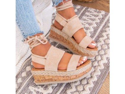 sandalki espadryle zamszowe bezowe lucy