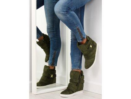 pol pl Sneakersy damskie zielone H6507 A GREEN 20608 8
