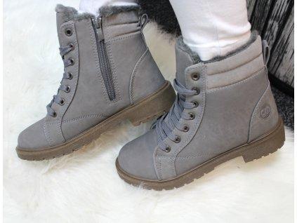 Dámská obuv s kožíškem VANC šedá