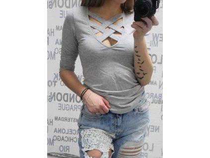 Dámské tričko LALITA šedé