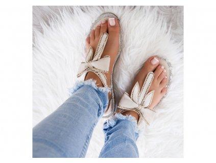 sandalki japonki bezowe zamszowe clairlíélp