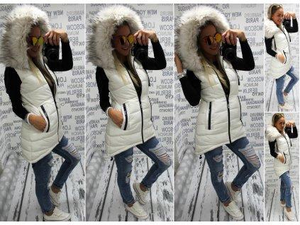 Dámská vesta bílá 594154