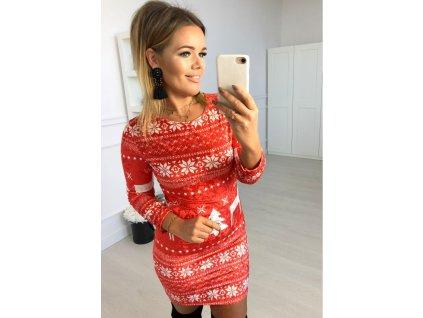 sukienka christmas santos czerwien