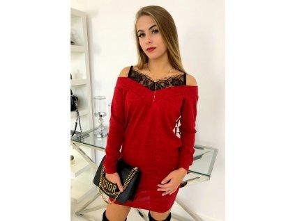 sukienka ellen czerwien