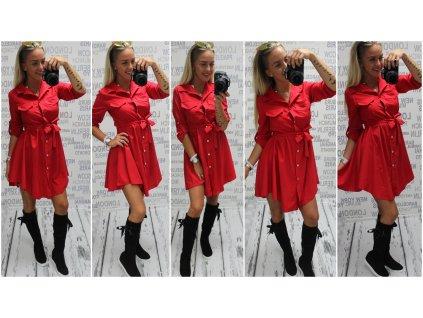 Dámská tunika/šaty červená 874