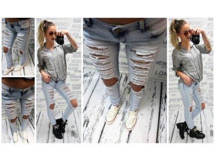 Dámské džíny trhané 1126
