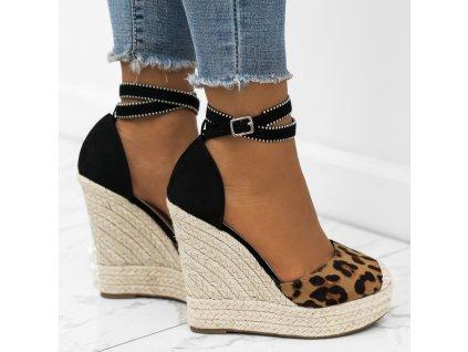 sandalki espadryle koturny panterka sammy