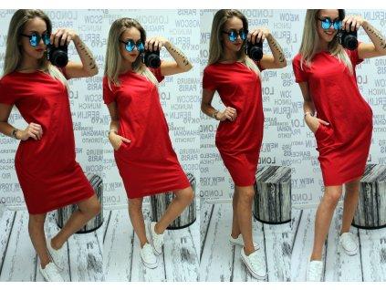 Dámské šaty basic červené