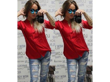Dámská košile červená