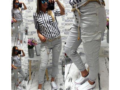 Dámské kalhoty šedé ITAMASKA