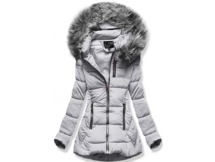Dámská zimní bunda B9901 šedá