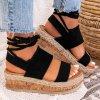 sandalki espadryle zamszowe czarne lucy