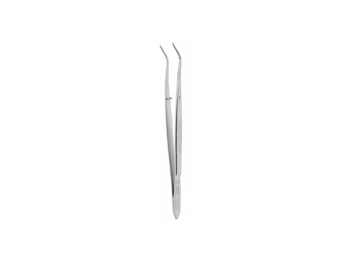 Pinzeta zubní  diamant. lomená 15.7cm