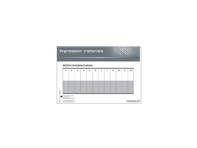 Míchací podložky  pro otiskovací hmoty 21x15 25 listů