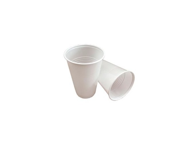 pohárky bílé