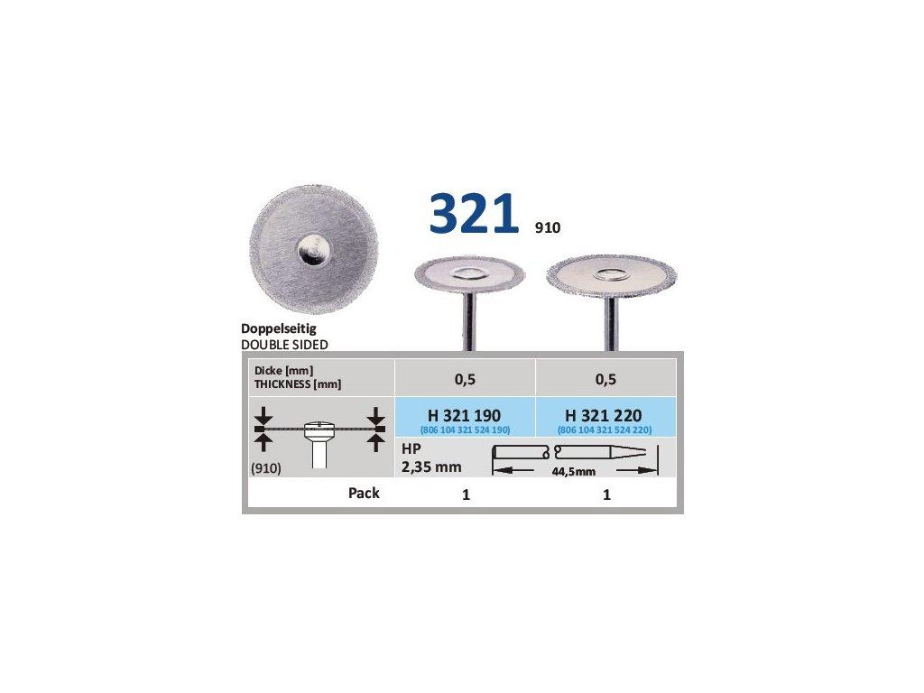 61164 diamantovy disk oboustranne sypany h321 prumer 2 2cm normal