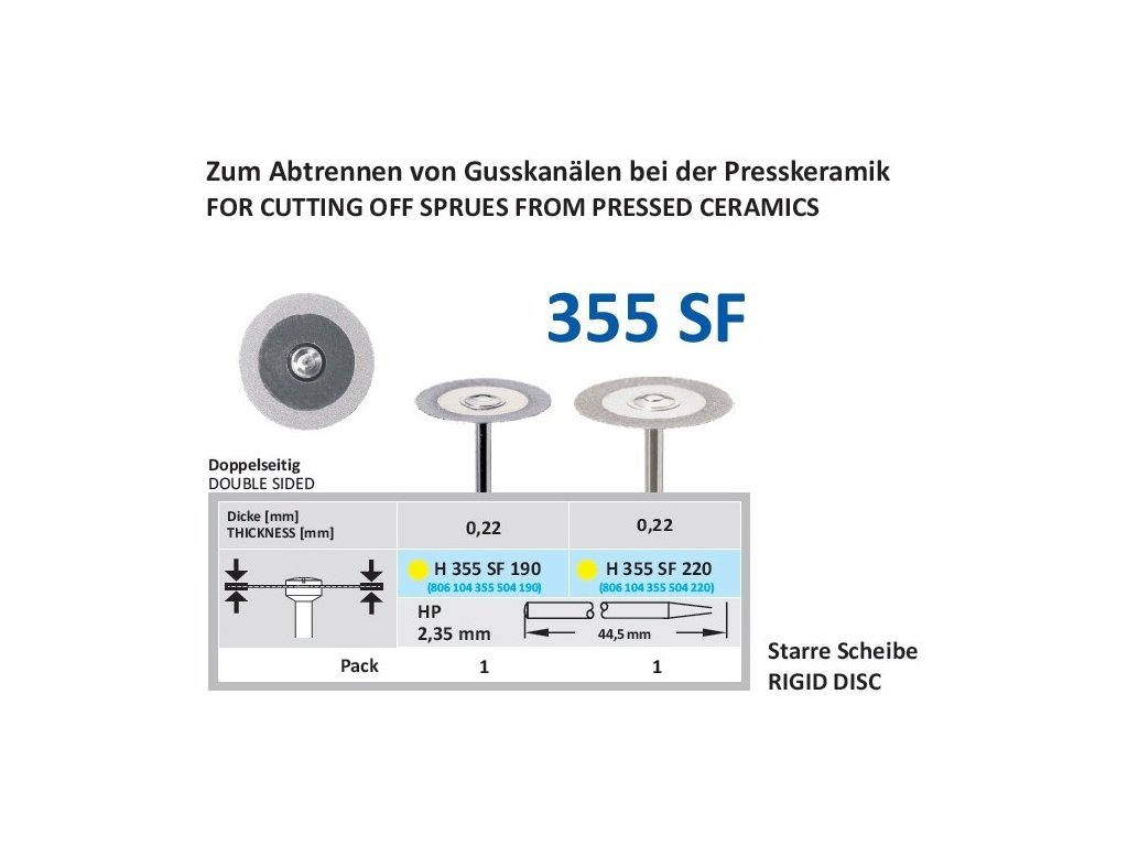 61350 diamantovy disk oboustranne sypany h355sf prumer 2 2cm extra jemna